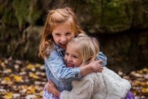 children, sisters, cute